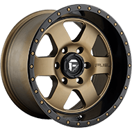 Fuel D617 Podium Bronze Black Lip Wheels