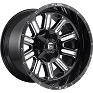 Fuel D620 Hardline Gloss Black Milled Wheels