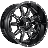 Fuel D627 Vandal Gloss Black Milled Wheels