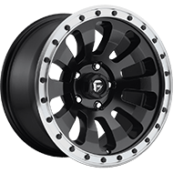 Fuel D629 Tactic Black w/ Machined Lip Wheels