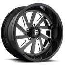 Fuel Wheels <br /> FF16 Gloss Black with Brushed Windows