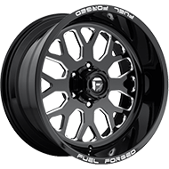 Fuel FF19 Black Milled Wheels