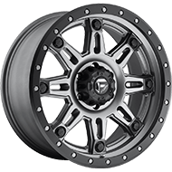 Fuel Wheels D568 Hostage III Matte Anthracite W/ Black Ring