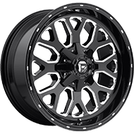 Fuel D588 Titan Black Milled Wheels