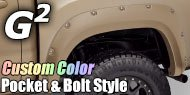 G2 Fender Flares<br /> Custom Color Pocket-N-Bolt Style