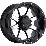 726M Big Block Wheels<br /> Gloss Black & Machined