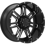 737BM Challenger Wheels <br /> Gloss Black