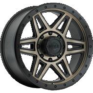 Gear Alloy 739Bz Endurance Matte Bronze Center Matte Black Lip Dark Aluminum Lip Bolts Wheels