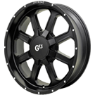 G-FX Wheels <br/>TR-2 Matte Black Machined Flange