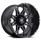 Hostile Wheels<br> Havoc Asphalt Black Satin