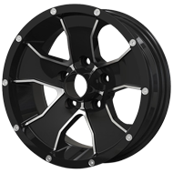 Ion Trailer Wheels<br/> 14 Black with Machined Face