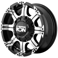 Ion Wheels<br> 187 Black with Machined Face