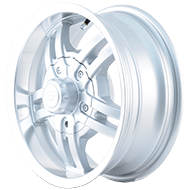Ion Trailer Wheels<br> 12 Silver/Machined Lip