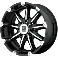 KMC XD779 Badlands Gloss Black and Machined Wheels