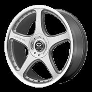 Lorenzo Wheels<br> WL28 Silver W/ Clear Coat