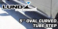 Lund 5 Inch<br /> Oval Curved Nerf Bars