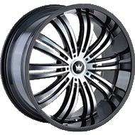 Mazzi Swank 363 Black/Machined Wheels