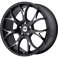 Motegi Racing MR126 Gloss Black with Milled Accents Wheels