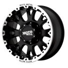 MOTO METAL WHEELS <br/> MO956 Matte Black with Machined Lip
