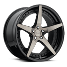 Niche Wheels Le Mans M322<br /> Black and Machined