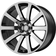 OE Creations PR146 Black Chrome Wheels