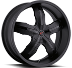Platinum Wheels<br /> 211 Widow Matte Black
