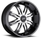 Platinum Wheels<br /> 298 Diamonte Gloss Black