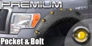 Premium Lighted and Textured <br>Pocket-n-Bolt Style Fender Flares