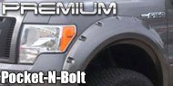 Premium Non-Lighted <br>Pocket-n-Bolt Style Fender Flares