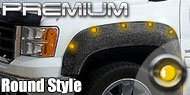 Premium Lighted and Textured<br> Round Style Fender Flares