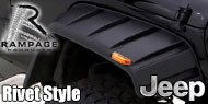 Rampage Smooth Rivet Style Fender Flares </br>for 2007-2016 Jeep Wrangler JK