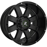 Remington Wheels<br /> 8-Point<br /> All Satin Black Finish