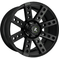 Remington Wheels<br /> Buckshot All Satin Black Finish