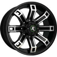 Remington Wheels<br /> Hollow Point in Satin Black with Machined Face Finish
