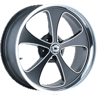 Ridler Wheels <br> 645 Matte Black/Machined <br>with Polished Lip