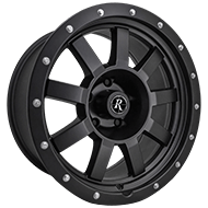 Remington Wheels<br /> Target All Satin Black Finish