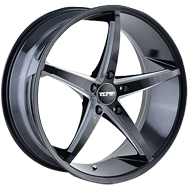 Touren Wheels<br /> TR70 Matte Black with Milled Spokes