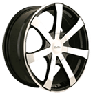 Touren Wheels<br /> TR90 Black with Machined Face