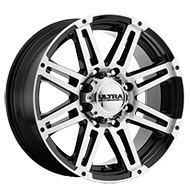 Ultra Wheels<br /> 226U Machine Gloss Black with Diamond Cut Face