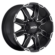 Ultra Wheels<br /> 225 Phantom Satin Black w/ Diamond Cut