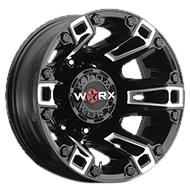 WORX Wheels Dually Beast 803 Rear <br/> Gloss Black Milled