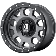 KMC XD126 Enduro Pro Matte Gray w/ Black Beadlock Ring Wheel