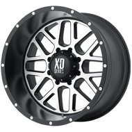 KMC XD820 Grenade Satin Black w/ Machined Face Wheels