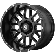 KMC XD820 Grenade Satin Black Wheels