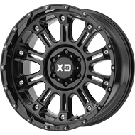 KMC XD829 Hoss 2 Gloss Black Wheels