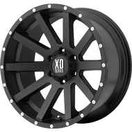 KMC XD818 Heist Satin Black Wheels