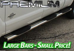 Premium Stainless Steel 5 Inch Wheel to Wheel Nerf Bars