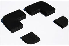 Extra thick foam rubber corners
