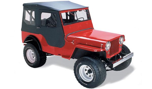 Bestop Tigertop Soft Top For Jeep Cj2a Cj3a Cj3b Mb M