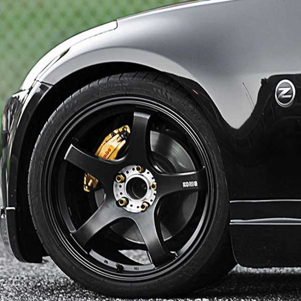 Konig Centigram Matte Black W Machined Pcd Wheels